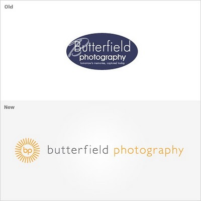 Identity Design Process for Butterfield Photography