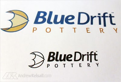 Logo Design Process for BlueDrift Pottery