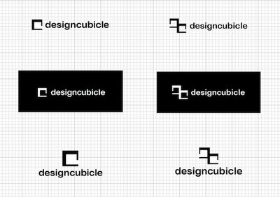 The creative process for The Design Cubicle logo